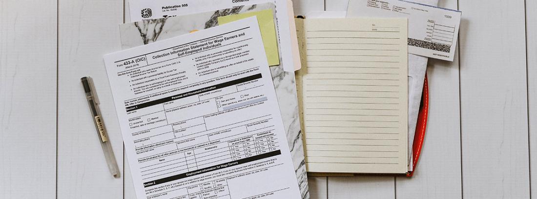 Documento para presentar impuestos