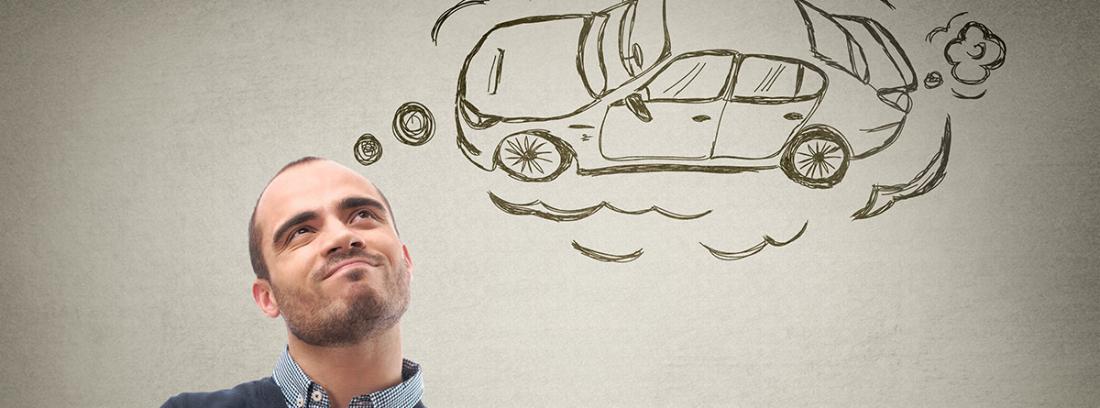 Hombre soñando con un coche