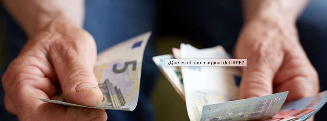 Manos con billetes
