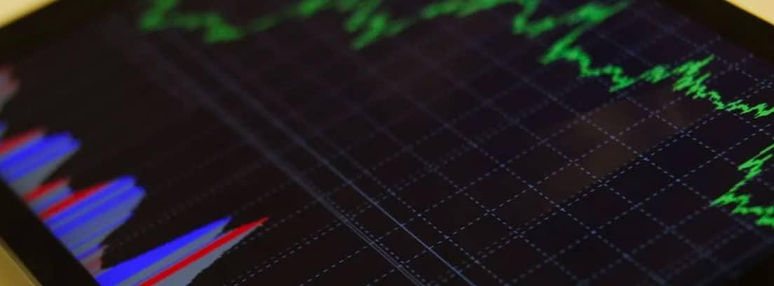 Gráfica de mercados en una tableta