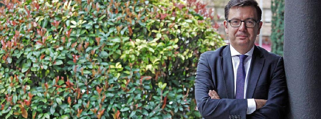 Román Escolano, el nuevo ministro de economía con brazos cruzados y fondo de plantas