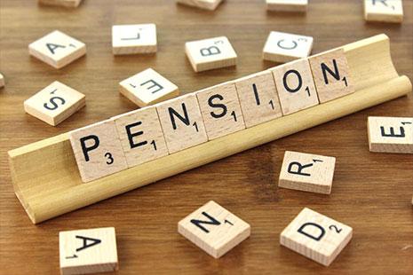 """fichas con letras formando la palabra """"pensión"""""""