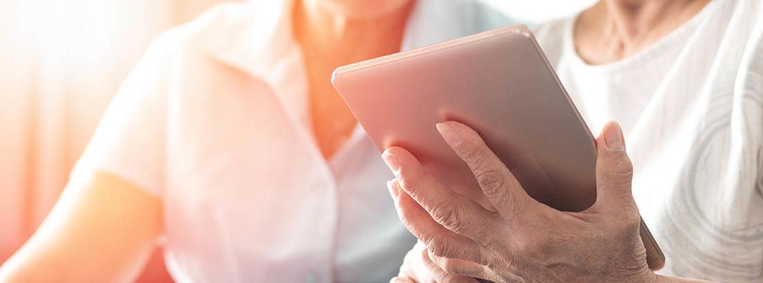 consultar la resolución de jubilación en una tablet