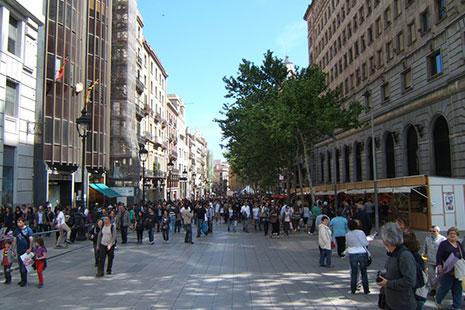 Calle Puerta del Ángel en Barcelona