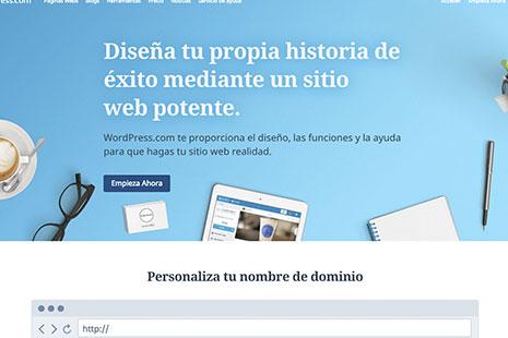 Página de inicio de WordPress.com