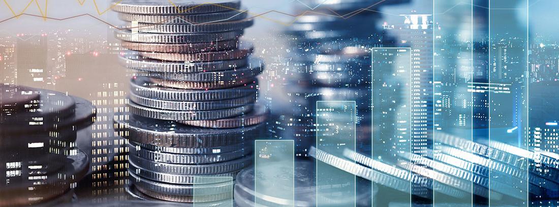 Diversos gráficos de dinero