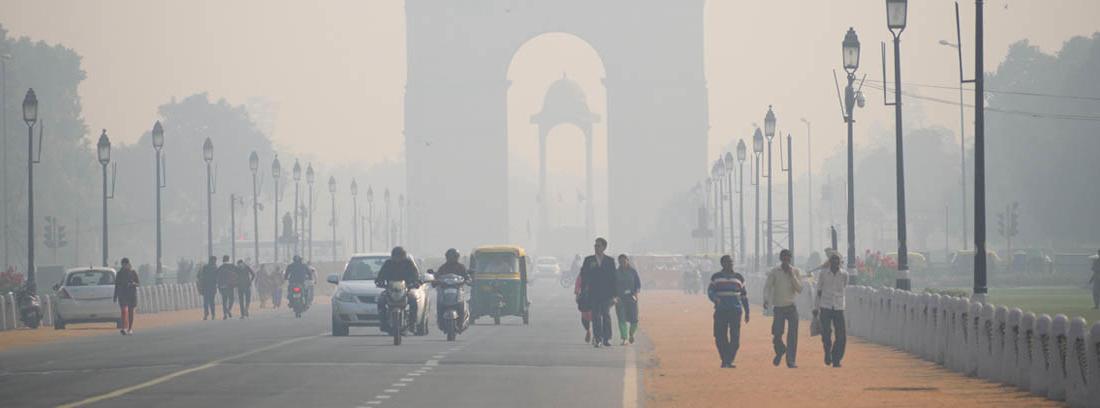 Ciudad con contaminación atmosférica