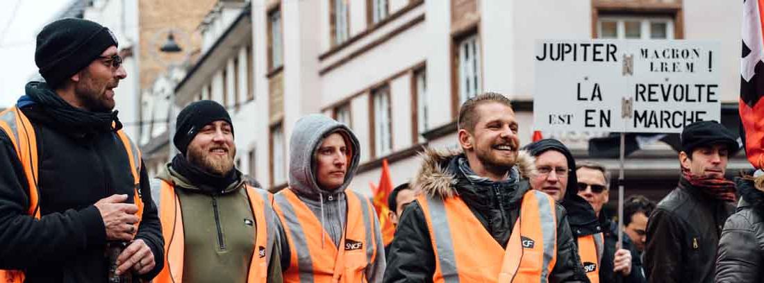 Personas en huelga