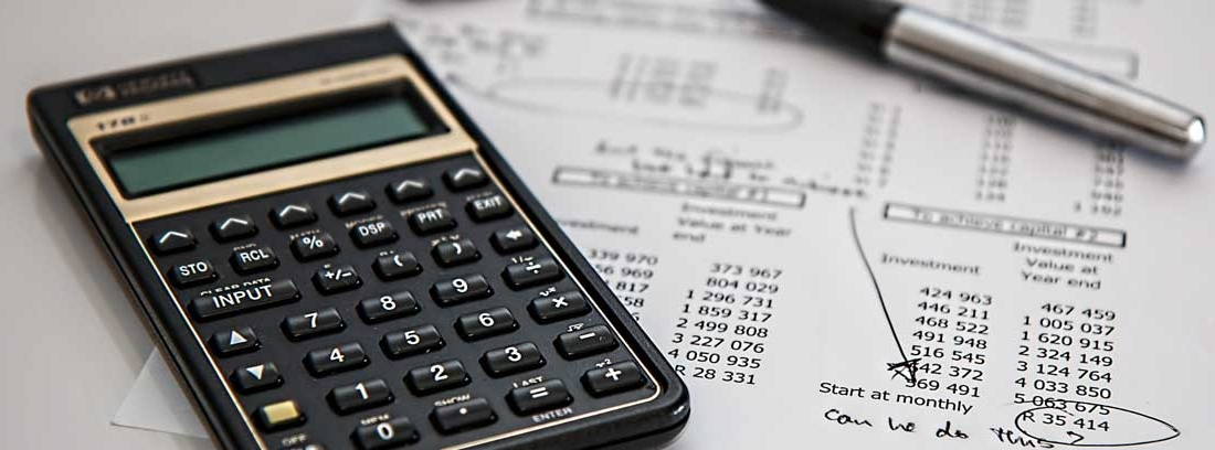 Calculadora sobre un presupuesto
