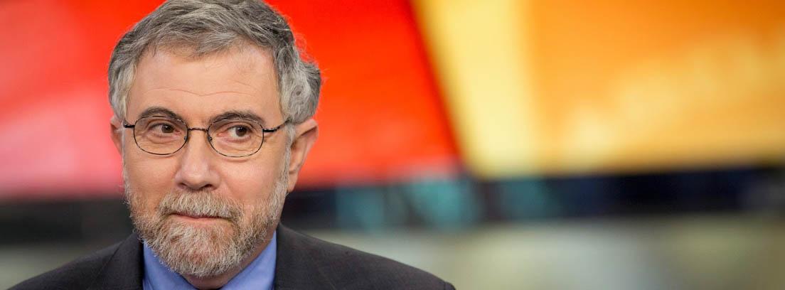Primer plano del premio Nobel de Economía Paul Krugman