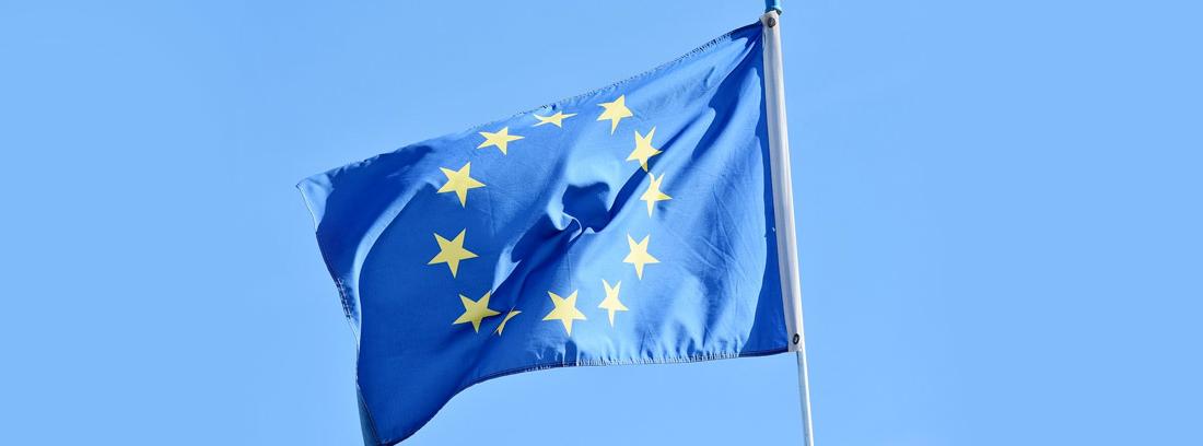 bandera de la Unión Europea al cual representa el Defensor del Pueblo
