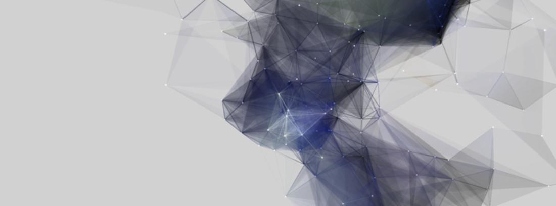 Representación del sistema Ethereum en forma de rombos que unen puntos