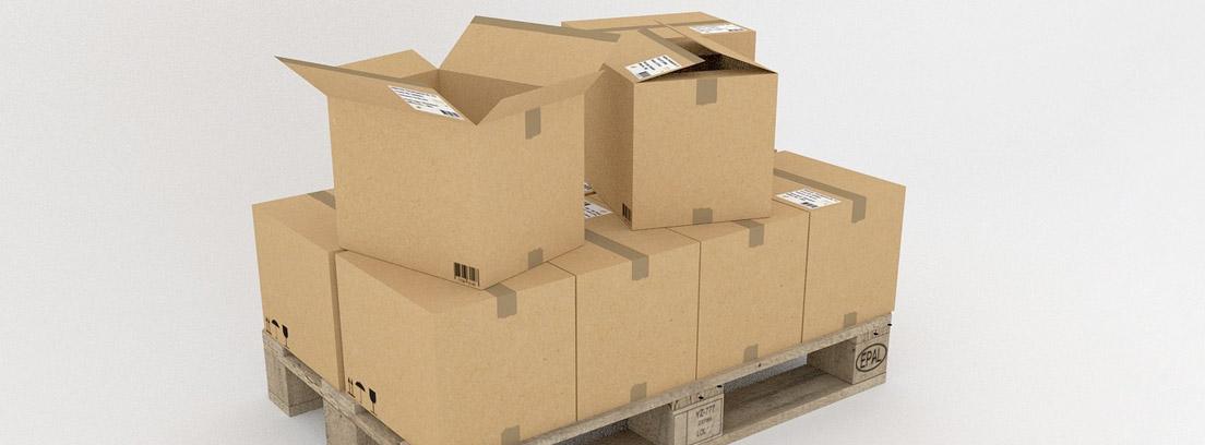 pallet con varias cajas que han tenido un descuento por rappel por compra