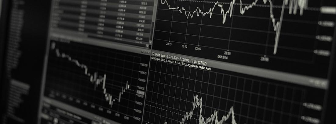 Pantalla en las que se muestran las fluctuaciones del mercado