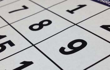 Números en un calendario