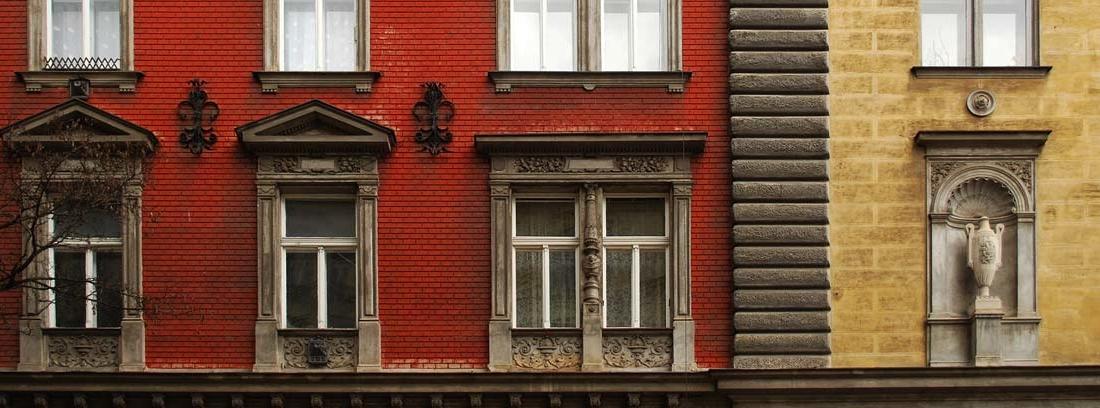 Fachada de un edificio antiguo