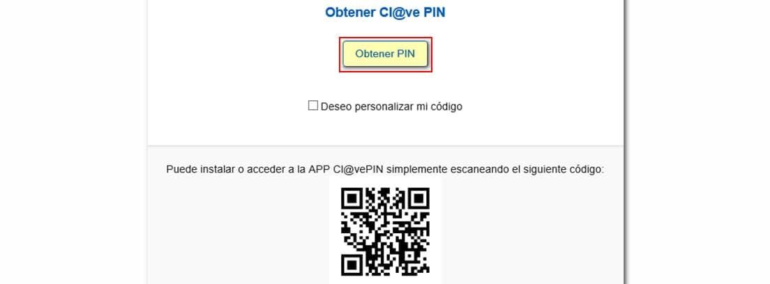 Pantallazo de la web de la Agencia Tributaria