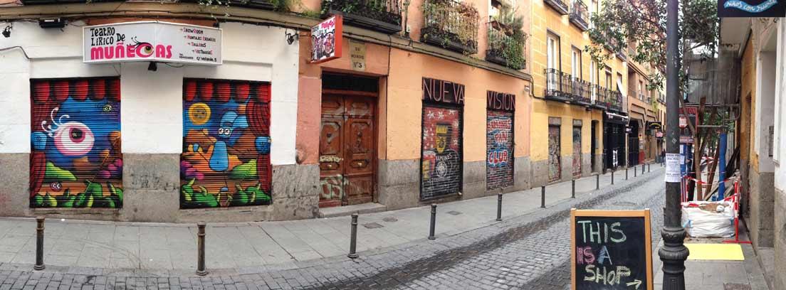 Una de las calles del barrio madrileño de Malasaña, zona afectada por la gentrificación