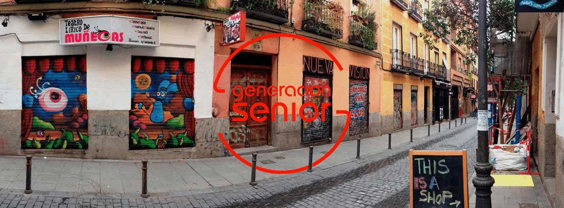 Gentrificación: Una de las calles del barrio madrileño de Malasaña, zona afectada por la gentrificación