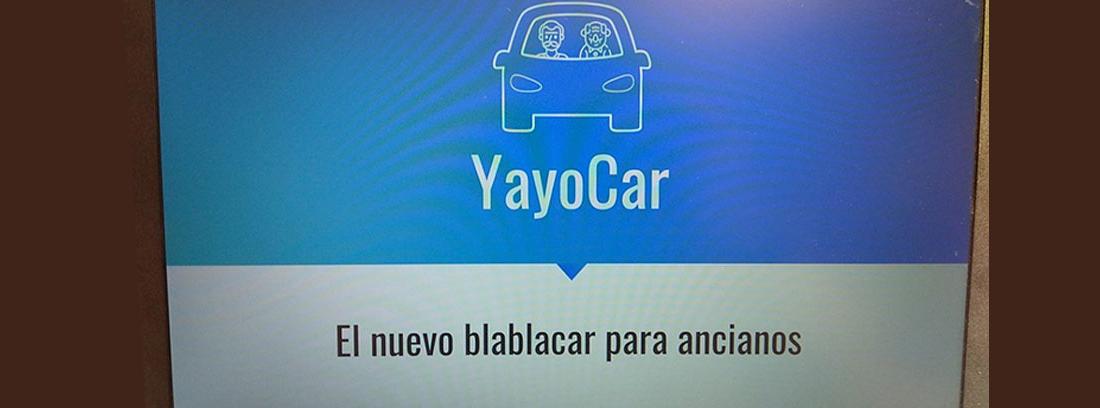 Pantalla principal de la aplicación YayoCar con dibujo de un coche
