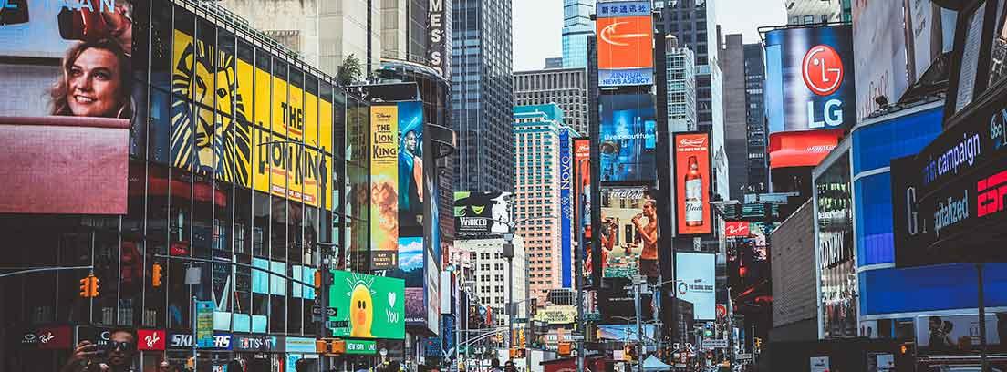 Una de las zonas comerciales más famosas de Nueva York