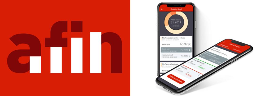 Logo de la nueva app e imagen de dos smartphones con la app en la pantalla.