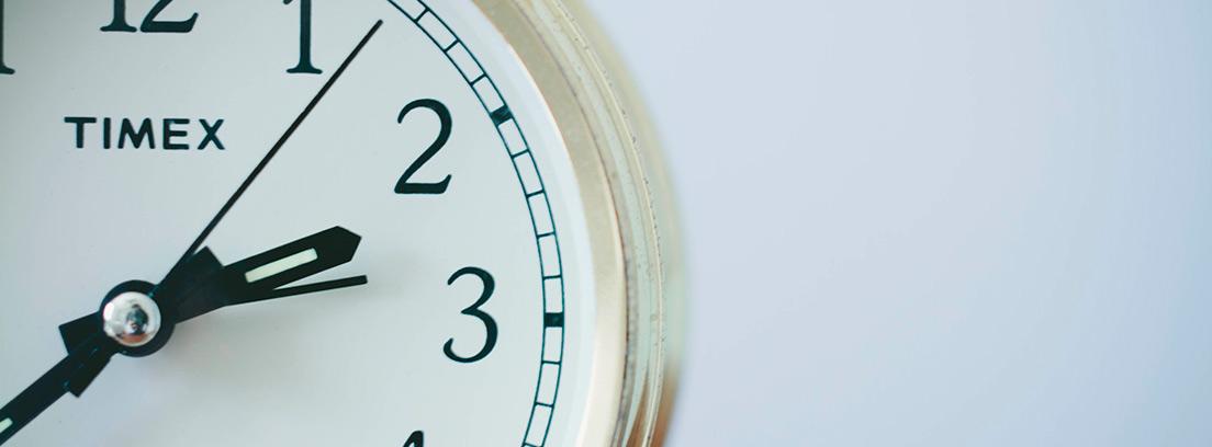 Primer plano de un reloj