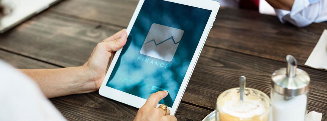 Operativa financiera a través de una tablet