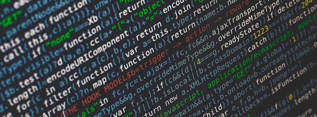 Código informático en una pantalla de ordenador