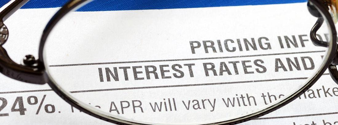 Un periódico detalla los tipos de interés