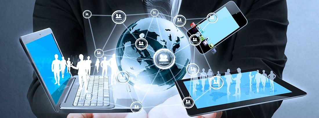 Smartphone, tableta y ordenador portátil