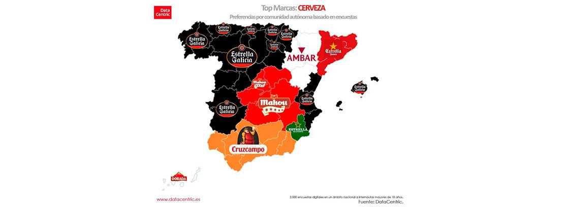 Marcas preferidas por Comunidades autónomas: supermercados