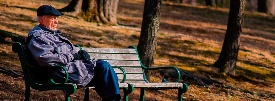 Anciano en un banco