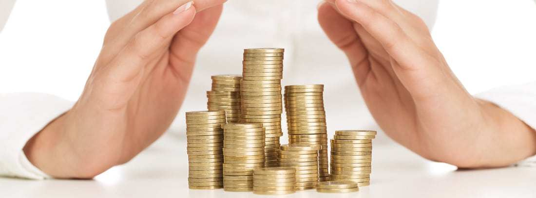 Monedas apiladas