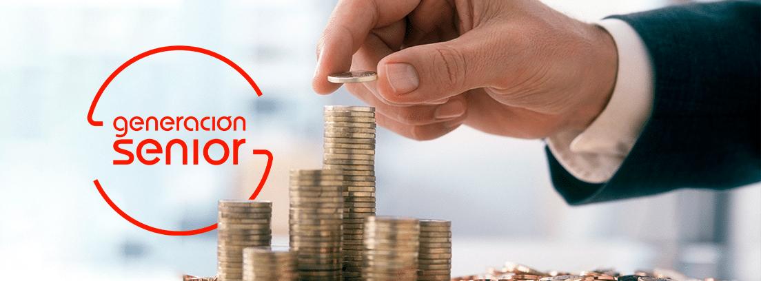 Ranking de las mayores fortunas de España: columnas de monedas de diferentes alturas