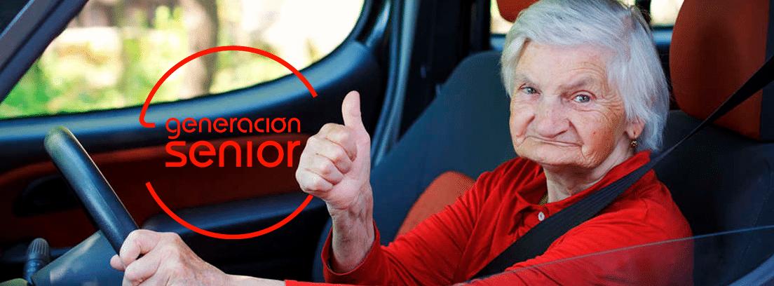 Conductores de edad avanzada: mujer mayor al volante de un coche