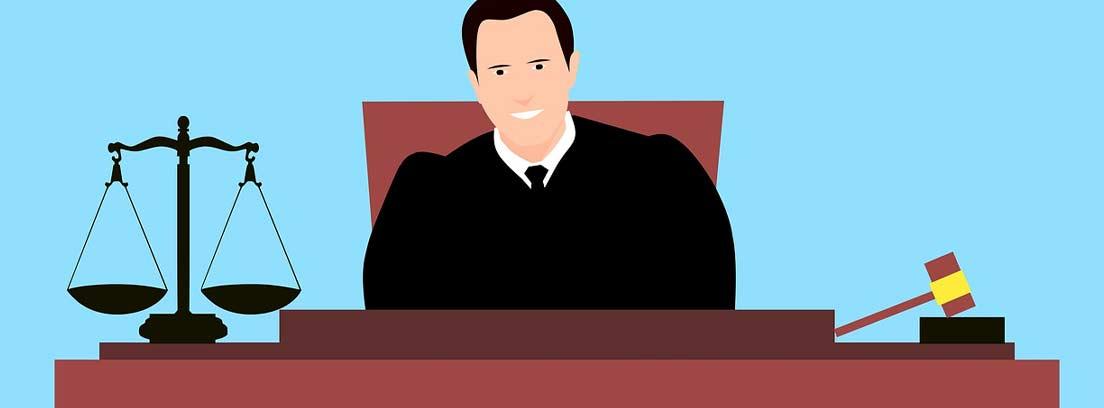 Ilustración de un funcionario de justicia