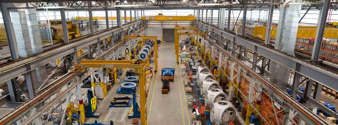 Cadena de montaje en fábrica