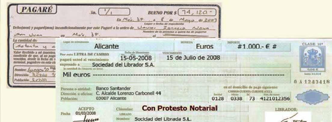 Letra de cambio sobre un pagaré
