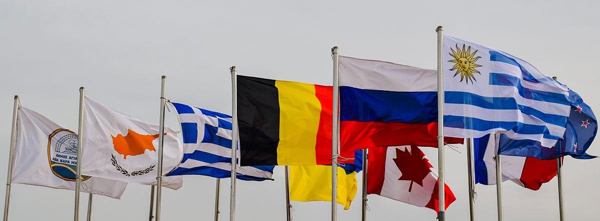 Banderas e varios países