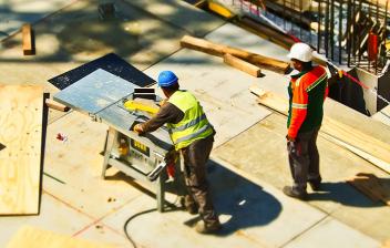 Trabajadores en una obra