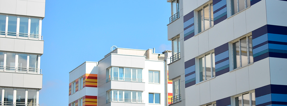 Bloques de pisos de viviendas