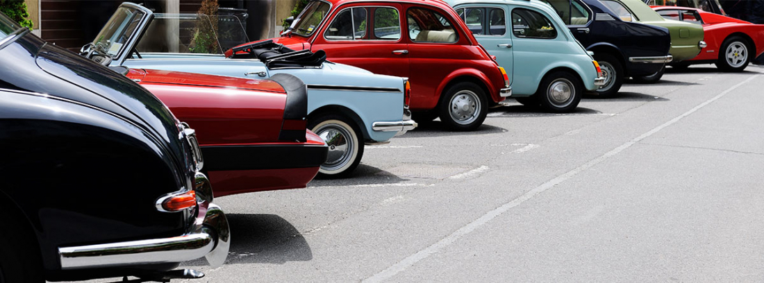 colección de coches antiguos
